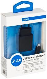 СЗУ Deppa ULTRA 2 USB 2,1 А+ дата-кабель micro USB, черный
