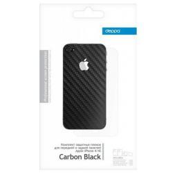 Комплект защитных пленок Deppa для Apple iPhone 5, Carbon Black прозрачный