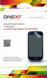 Защитная пленка  ONEXT Samsung Galaxy S3 mini прозрачная