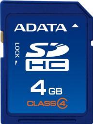 Карта памяти SDHC 4GB A-data class 4 ASDH4GCL4-R