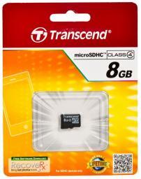 Карта памяти MicroSDHC 8GB Transcend Class4 TS8GUSDC4