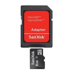 Карта памяти SanDisk microSDHC 8Gb + adapter (SDSDQM-008G-B35A)