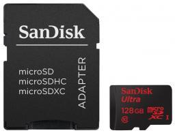 Катра памяти microSDXC 128Gb SanDisk Class10 Ultra Imaging + adapter