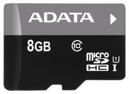 Карта памяти ADATA MicroSDHC/UHS-I 8 GB Class10 с адаптером