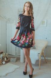 платье черное хохлома