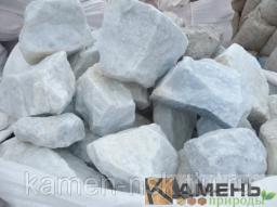 Камень бутовый мраморный ярко-белый