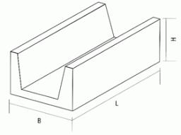 Лоток железобетонный ЛК 300-210-120