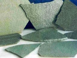 Златолит серебро с блеском.Толщина 1,5- 2,5 см