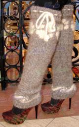 Вязание спицами для целебных изделий, готовая собачья пряжа