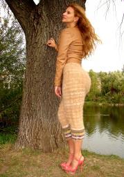 Штаны женские вязаные из собачьей шерсти очень теплые .