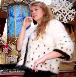 Жакет «Автоледи» из собачьей шерсти .Жакет теплый зимний .