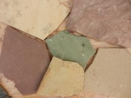 Песчаник желтый плитняк, 1,5-2,5 см.