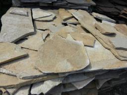 Песчаник серый плитняк, 1,5-1,2 см.