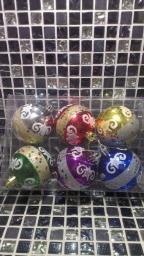 Новогодние украшения шарики цветные: Новогодние игрушки шарики с узором 6шт.