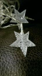Новогодние гирлянды с фигурой: Новогодняя гирлянда с фигуркой звезда 20 ламп.