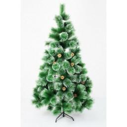 Искусственная зеленая елка с напылением снег: Искусственная елка зеленая снег 2.1м.