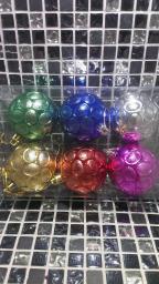 Новогодние украшения шарики цветные: Новогодние украшения Шары 6шт.