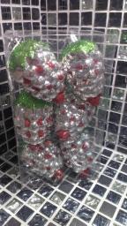 Новогодние игрушки фигурные: Игрушки на елку ягода 6 штук.
