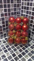 Игрушки на елку Шарики однотонные.: Игрушки на елку красные шарики 12шт.
