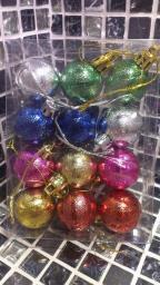 Новогодние украшения шарики цветные: Новогодние украшения шарики 12шт.