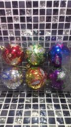 Новогодние украшения шарики цветные: Игрушки на елку шарики с узорами 6шт.
