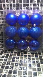Игрушки на елку Шарики однотонные.: Игрушки на елку шарики голубого цвета 9шт.