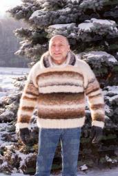 Свитер зимний «Капучино со сливками» из собачьей шерсти