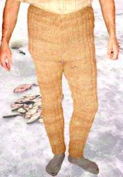 Штаны мужские вязанные артикул №05м из собачьей шерсти