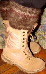 Носки-гольфы из пуха кавказца .