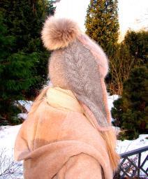 Шапка-шлем женская зимняя «Клеопатра» .