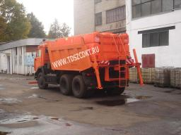 Дорожная машина ЭД-405Р на базе самосвала КамАЗ-65115 с двигателем Евро-3