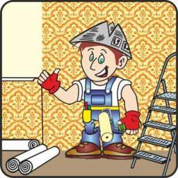 Покраска водоэмульсионкой стен, потолков, обоев (без подготовки)