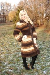 Пальто женское вязанное «Зимняя Сказка» .Эксклюзив .Зимнее теплое пальто .
