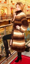 Вязанное пальто женское 2014 .