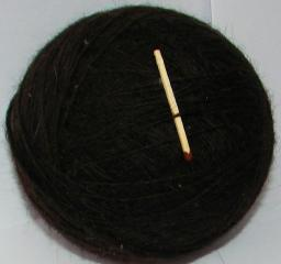 Пряжа «Черный Лохматуля» 500м100гр черная тонкая .Из собачьей шерсти .