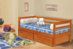 Кровать детская с ящиками №4 одноярусная из дерева
