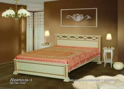 Кровать Неаполь из массива дерева