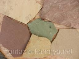 Песчаник шоколадка в мешках, размер 8-15 см 1,5-2,5 см.
