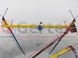 Кран мостовой подвесной однобалочный