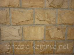 Плитка из натурального камня песчаника хамелеон скол 100*150 мм
