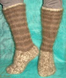 Носки – гольфы зимние арт. №28м из собачьей шерсти.