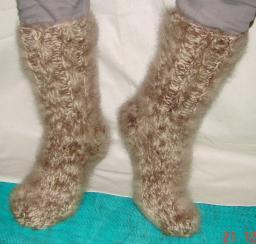 Носки теплые вязанные арт. №27м из собачьего пуха .Толстые носки .