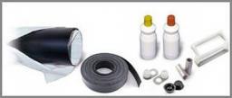 Комплект заделки стыка для трубопровода с термоусаживаемой муфтой