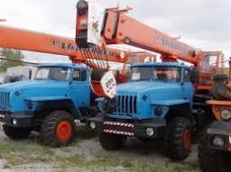 Аренда крана Урал 25 тонн