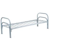 Кровать металлическая одноярусная, сетка прокатная пружина,