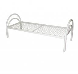 Кровать металлическая одноярусная усиленная сетка сварная (1 перемычка)