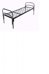 Кровать металлическая одноярусная сетка прокатная пружина