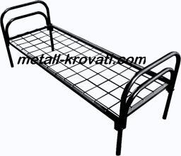 Кровать металлическая одноярусная, сетка сварная 100х100мм