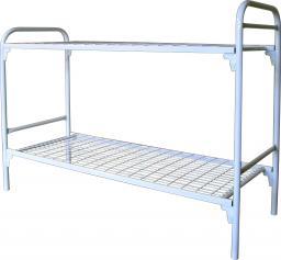 Кровать металлическая двухъярусная сетка сварная