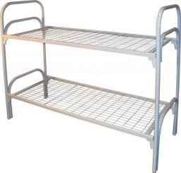 Кровать металлическая двухъярусная усиленная (двойная ножка)
